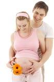 Paar dat op baby wacht Stock Foto's
