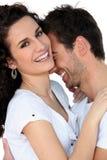 Paar dat samen lacht royalty-vrije stock foto
