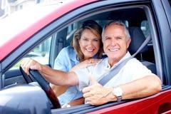 Paar in de auto Royalty-vrije Stock Afbeelding