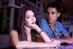 Paar in de club Royalty-vrije Stock Foto's