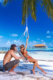 Paar in de Maldiven Royalty-vrije Stock Afbeelding