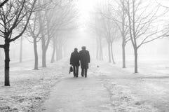 Paar in de mist Royalty-vrije Stock Foto