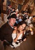 Paar in de Oude Zaal van het Westen royalty-vrije stock foto's