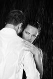 Paar in de regen Royalty-vrije Stock Fotografie