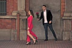 Paar in de stad Royalty-vrije Stock Afbeelding
