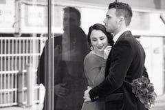 Paar in de stad Royalty-vrije Stock Fotografie