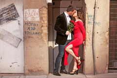 Paar in de stad Stock Afbeelding