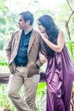 Paar in de tuin Royalty-vrije Stock Fotografie