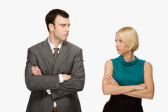 Paar die bij elkaar staren Royalty-vrije Stock Foto