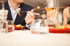 Paar die diner hebben Royalty-vrije Stock Afbeelding
