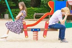 Paar die door conflict in hun verhouding gaan royalty-vrije stock foto