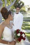 Paar die elkaar bekijken Royalty-vrije Stock Foto
