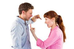 Paar die met elkaar debatteren Stock Afbeelding