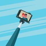 Paar die selfie nemen Stock Afbeeldingen