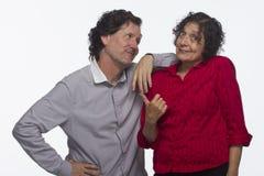 Paar die toevallig en leuk met horizontaal elkaar, zijn Stock Afbeelding