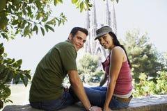 Paar die van Mening genieten in Barcelona royalty-vrije stock foto's