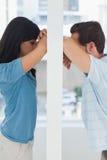 Paar die verhoudingsproblemen hebben Stock Foto's
