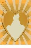Paar in een hart Royalty-vrije Stock Foto's