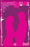 Paar Embrassing 1 Royalty-vrije Illustratie