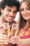 Paar en drank Stock Foto