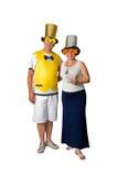 Paar en Nieuwjaar Royalty-vrije Stock Foto