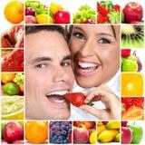 Paar en vruchten Royalty-vrije Stock Afbeelding
