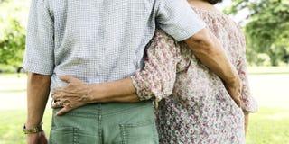 Paar-Frau-Ehemann-Datierungs-Entspannungs-Liebes-Konzept Lizenzfreies Stockbild