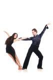 Paar geïsoleerdee dansers Royalty-vrije Stock Foto