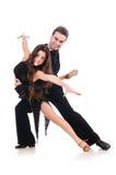 Paar geïsoleerdel dansers Stock Foto's