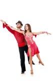 Paar geïsoleerdet dansers Stock Foto's