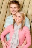 Paar in gelukkige liefde - geniet van de zomer Royalty-vrije Stock Afbeelding