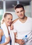 Paar in gezondheidsclub Royalty-vrije Stock Foto