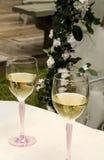 Paar Glazen van de Wijn Royalty-vrije Stock Fotografie