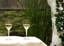 Paar Glazen van de Wijn Stock Afbeelding