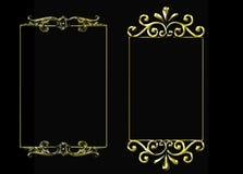 Paar gouden frames Royalty-vrije Stock Afbeelding