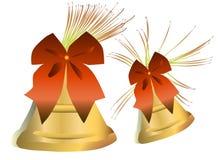 Paar gouden klokken Royalty-vrije Stock Afbeeldingen