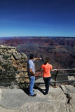 Paar in Grand Canyon Royalty-vrije Stock Afbeelding