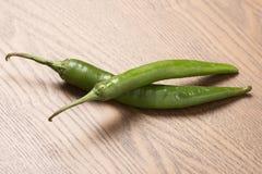 Paar groene Spaanse peper Royalty-vrije Stock Fotografie