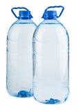 Paar grote flessen water Royalty-vrije Stock Foto's