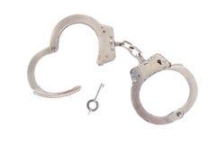 Paar handcuffs royalty-vrije stock afbeeldingen