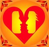 Paar in Hart! Vector Illustratie