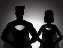 Paar-Held-Schattenbild Lizenzfreie Stockfotografie