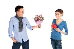 Paar in het Concept van de Liefde royalty-vrije stock afbeelding