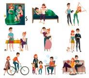 Paar in het Dagelijkse Levensreeks royalty-vrije illustratie