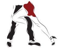 Paar het dansen tango Royalty-vrije Stock Foto