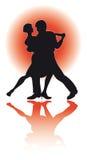 Paar het Dansen Tango/eps Stock Afbeelding