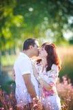 Paar het kussen Stock Foto's