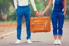 Paar in het park Royalty-vrije Stock Foto