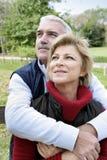Paar in het platteland Stock Foto