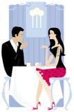 Paar in het restaurant Royalty-vrije Stock Fotografie